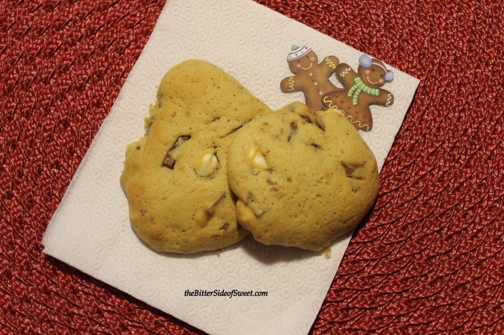 White Chocolate Chip Gingerbread Cookies
