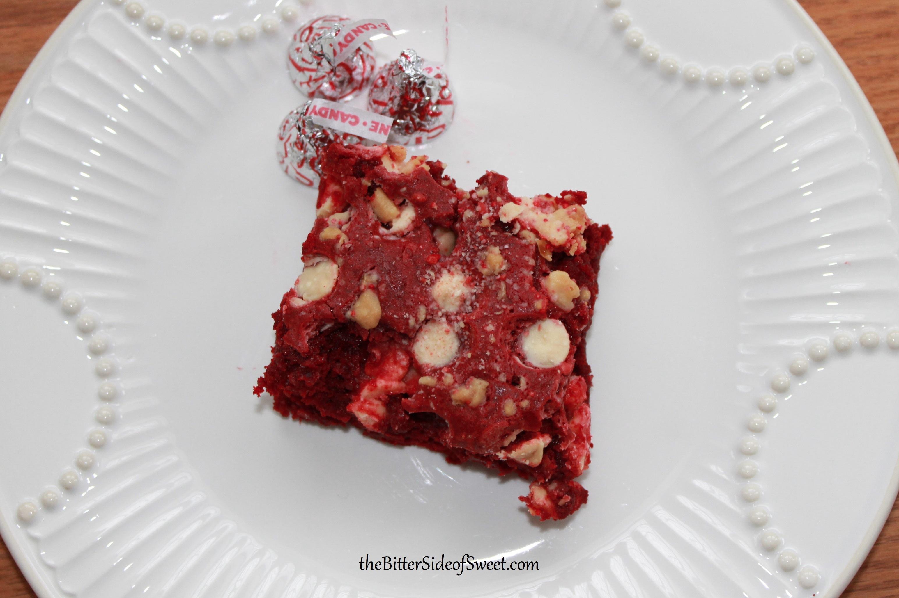 Red Velvet Candy Cane Dump Cake