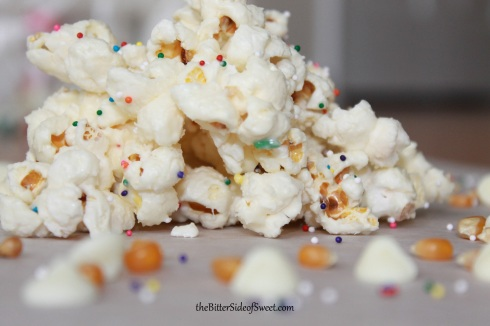 Funfetti Cake Mix Popcorn