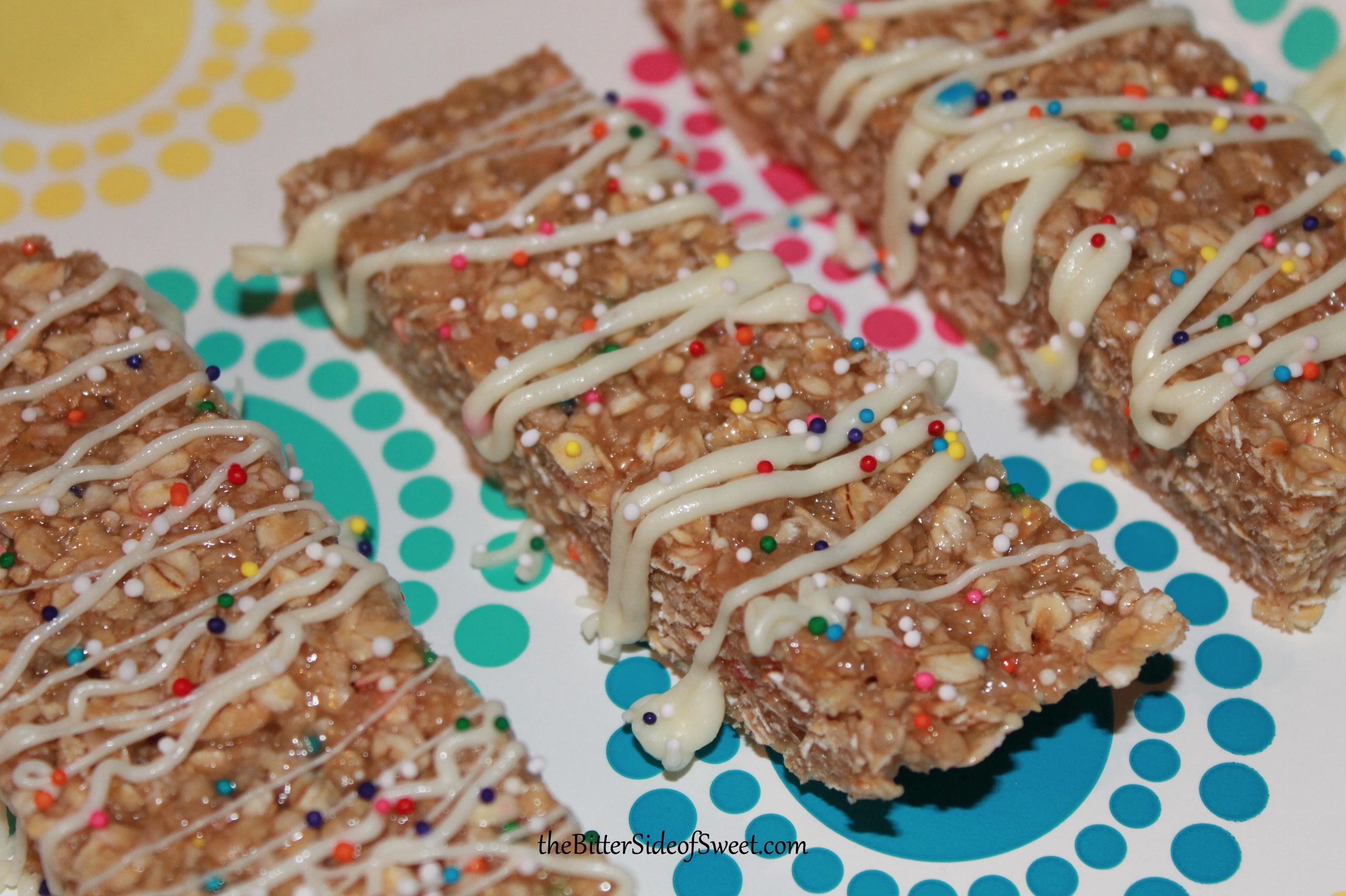 Funfetti Cake Mix Granola Bars