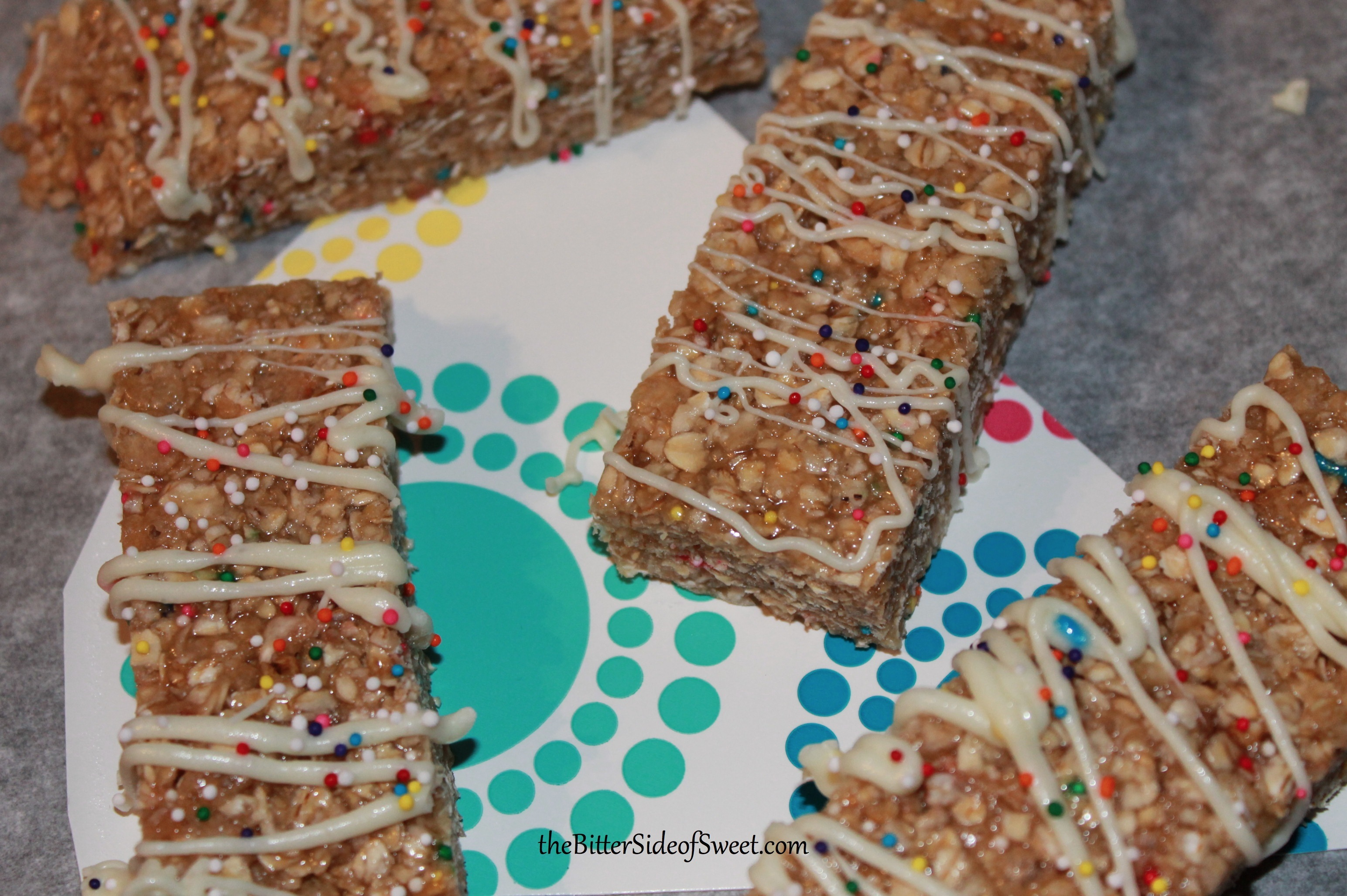 Funfetti Cake Mix Granola Bars
