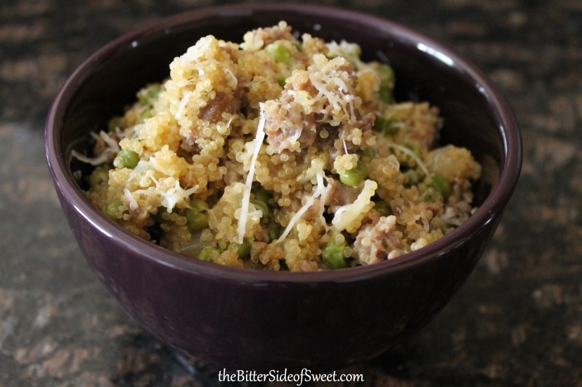 Sausage and Peas Quinoa2