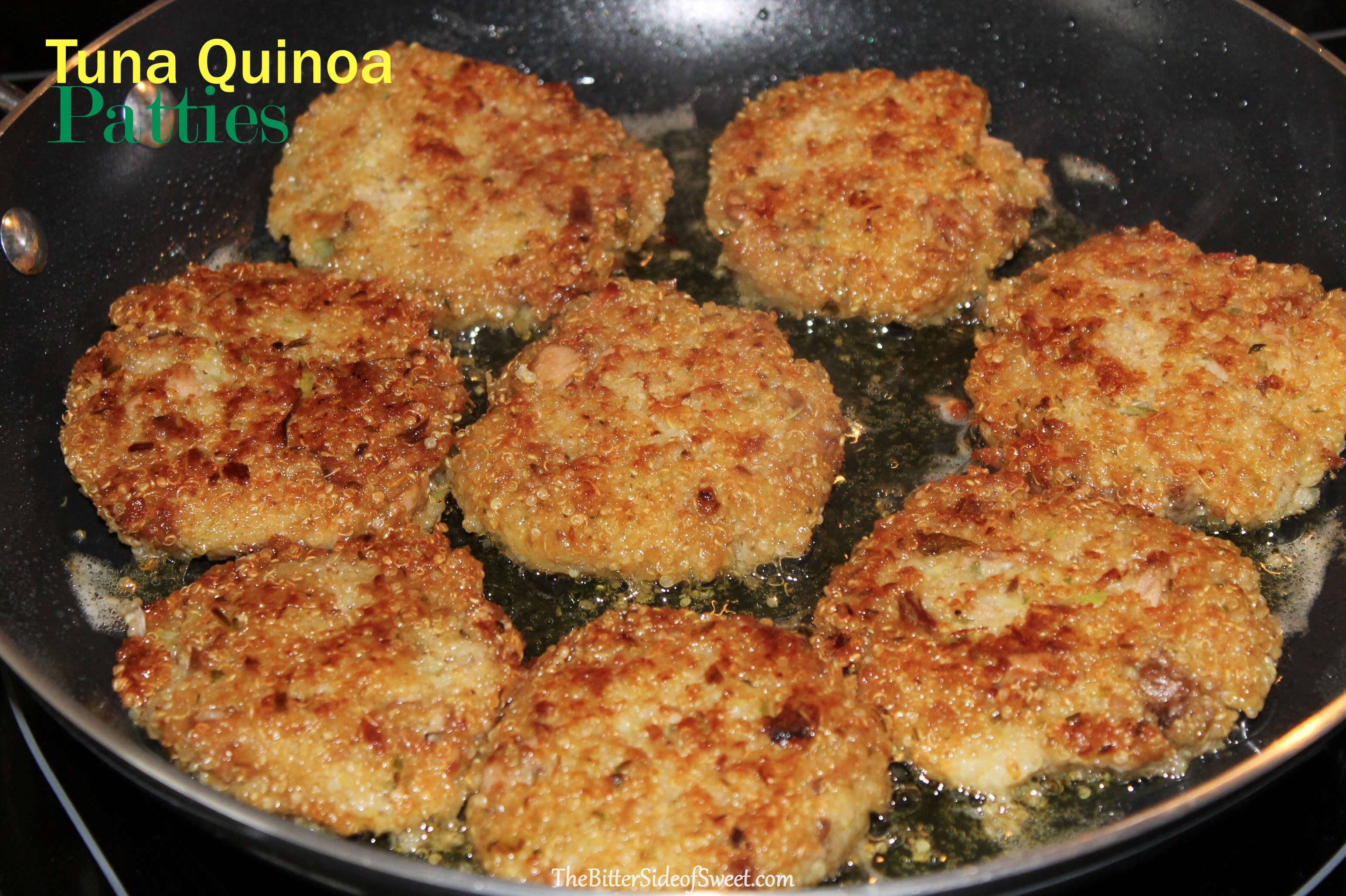 Tuna quinoa patties thebittersideofsweet for How to make fish patties