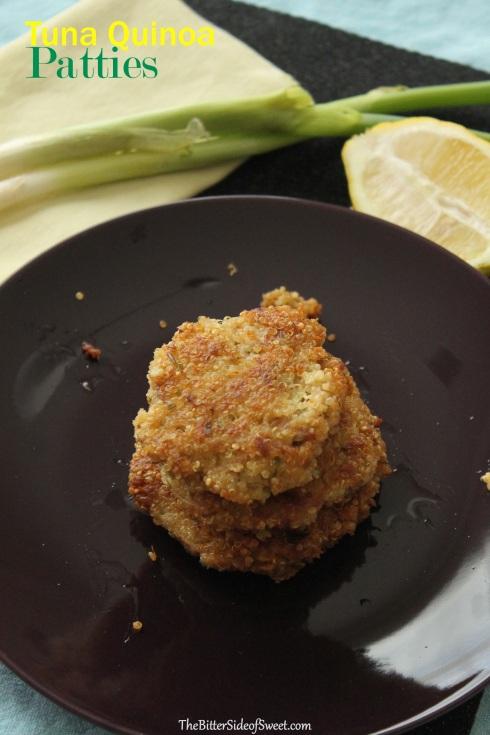 Tuna Quinoa Patties - The Bitter Side of Sweet