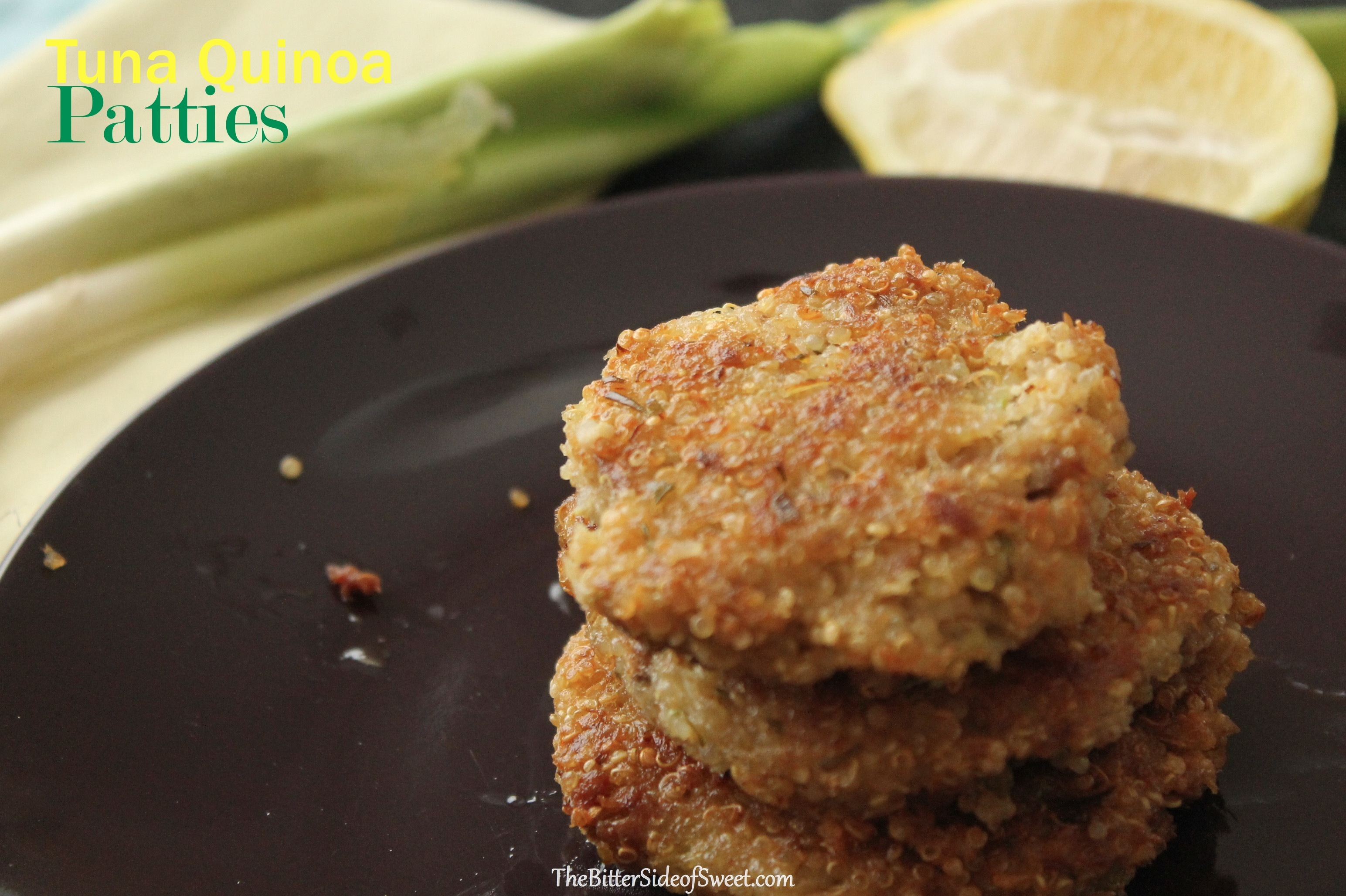 Tuna Quinoa Patties via thebittersideofsweet