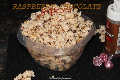 Raspberry Chocolate Popcorn